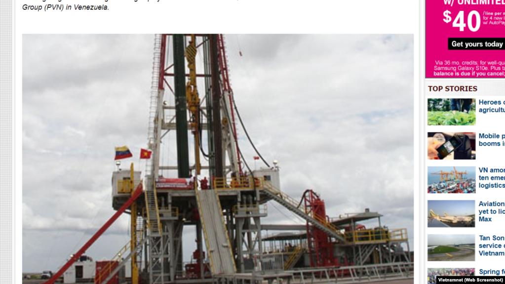 Một giàn khoan của dự án Junin-2 ở Venezuela.