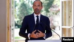 Le Premier ministre français Edouard Philippe donne une conférence de presse à Paris, le 31 août 2017.