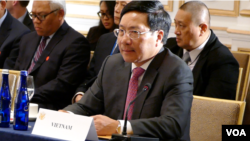 Phó Thủ tướng kiêm Bộ trưởng Ngoại giao Việt Nam Phạm Bình Minh.