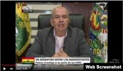 """Arturo Murillo, ministro de gobierno de Bolivia, informa a CNN la captura de cuatro """"presuntos médicos"""" cubanos con dinero para apoyar a movimientos sociales."""