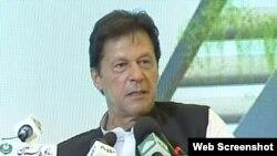 عمران خان میانوالی میں اسپتال کا سنگ بنیاد رکھنے کی تقریب میں تقریب میں تقریر کر رہے ہیں۔ 19 جولائی 2019