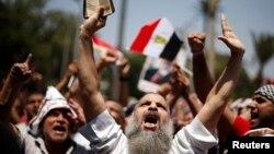 گروه های اسلامگرای مصری در تظاهرات خیابانی