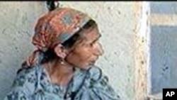 منشیات کی عادی ایک افغان خاتون