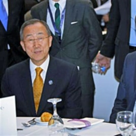 U.N. Secretary-General Ban Ki-moon is seen during a meeting at the 4th United Nations Conference on the Least Developed Countries in Istanbul, May 9, 2011