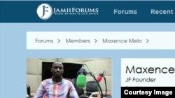 Mtandao wa jamiiforums ukiwa na wasifu na picha ya muanzilishi mwenza Maxence Melo Mubyazi