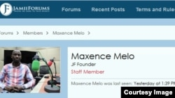A Dec. 16, 2016, screenshot of jamiiforums website showing the profile photo of co-founder Maxence Melo Mubyazi; saying he was last seen yesterday at 1:39 PM.