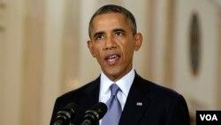 바락 오바마 대통령 연설장면(자료사진)