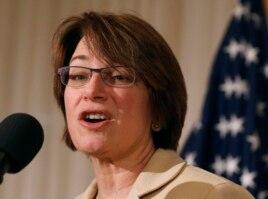 FILE - Senator Amy Klobuchar.