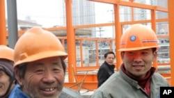 上海世博会工地上的农民工