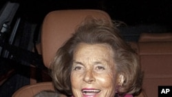 L'Oreal heiress Liliane Bettencourt (file photo)