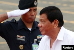 """Philippine President Rodrigo Duterte has criticized the Obama administration and taken steps to align more with China. Duterte announced in October that he wants U.S. troops out of the Philippines, """"maybe in the next two years."""""""