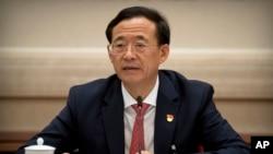 中國證券監督管理委員會主席劉士餘在中共19大金融系統分組討論中發言。(2017年10月19日)