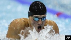 Ryan Lochte chiếm huy chương vàng bộ môn 400 mét hỗn hợp cá nhân ở Olympic 2012, 28/7/2012
