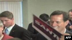 Претендент на кандидатуру в президенти США від Республіканської партії Рік Санторум в Іллінойсі