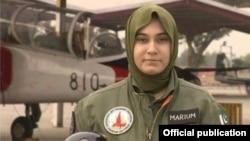 ہلاک ہونے والی خاتون پائلٹ مریم مختیار