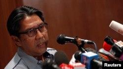 Direktur Jenderal Badan Penerbangan Sipil Malaysia (DCA) Datuk Azharuddin Abdul Rahman pada sebuah jumpa pers (9/3). (Reuters/Edgar Su)