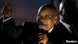 Le président Jacob Zuma au Cap, Afrique du Sud, 8 août 2017.
