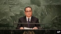 朝鲜前外务相李洙墉(资料图片)