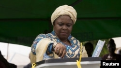 Patience Jonathan, l'épouse de l'ancien président Goodluck Jonathan, Otuoke, le 28 mars 2015.