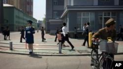 지난달 25일 북한 평양의 주택가. (자료사진)