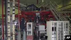 图为中国四川成都一个试验室一个试验性核巨变反应堆资料照