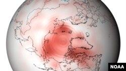 temperatures in the arctic