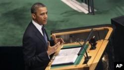 奧巴馬在聯合國大會上發言