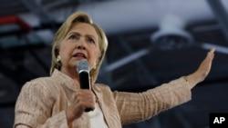 La candidate démocrate à l'élection présidentielle, Hillary Clinton, 17 août 2016.