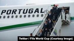 Equipa de Portugal aterra em Moscovo. 9 de Junho 2018