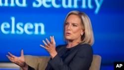 美國國土安全部長吉爾斯騰·尼爾森(Kirstjen Nielsen)在華盛頓的喬治華盛頓大學的網絡與國土安全中心講話(2018年9月5日)