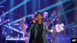 Usher performing at Madison Square Garden in New York City earlier this year