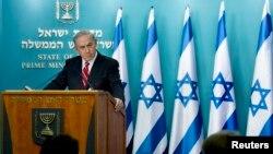 以色列總理內塔尼亞胡在記者會上講述停火情況