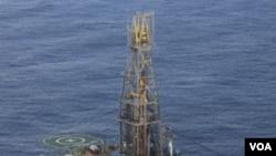 Proyek pertambangan gas alam yang dioperasikan perusahaan Noble Energy di Cyprus. (21/11)