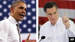Tổng thống Obama và ứng cử viên đảng Cộng hòa Mitt Romney