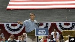 奥巴马七月五号在莫米发表竞选演讲
