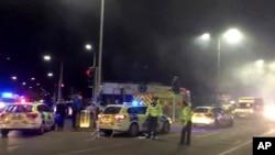 Cảnh sát phong tỏa hiện trường vụ nổ ở Leicester, Anh, ngày 25/2/2018