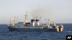 Kementerian Situasi Darurat Rusia mengeluarkan foto kapal ini, yang disebut berjenis sama dengan Dalniy Vostok, kapal yang tenggelam di Laut Okhotsk.