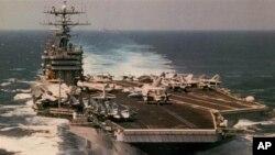 ກໍ່າປັ່ນບັນທຸກເຮືອບິນ ທີ່ແລ່ນດ້ວຍພະລັງນີວເຄລຍ USS George Washington ກໍໄປຮ່ວມໃນການຊ້ອມລົບ ຢູ່ໃນເຂດນ່ານນ້ຳຂອງຍີ່ປຸນ.