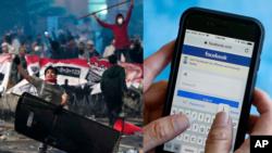 Aktivitas Facebook Indonesia turun drastis saat kerusuhan 21 Mei dan beberapa hari setelahnya. (Foto:AP)