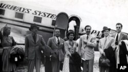 On August 17, 1941 Walt Disney, his wife Lillian, and colleagues step off the plane in Rio de Janeiro to begin a nine-week trip through Latin American countries.