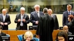 聯合國法庭審訊進行時情景