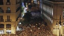میدان پورتا دل سُل در مادرید، بامداد شنبه