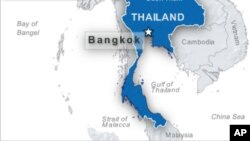 Peta wilayah Thailand.