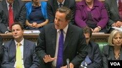 PM David Cameron memberikan keterangan kepada parlemen terkait huru-hara di Inggris sepekan terakhir (11/8).