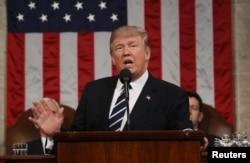 Prezident Tramp Kongressga murojaat qilmoqda