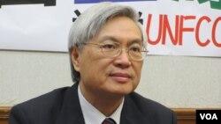 台湾执政党国民党立委邱文彦(美国之音张永泰拍摄)