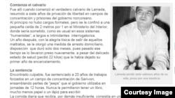 베네수엘라에서 발행되는 '디아리오 라 보즈' 신문이 지난 11일 북한에 수감됐던 베네수엘라 유명 시인 알리 라메다 씨의 사연을 소개했다. '디아리오 라 보즈' 신문에 실린 라메다 씨 사진.