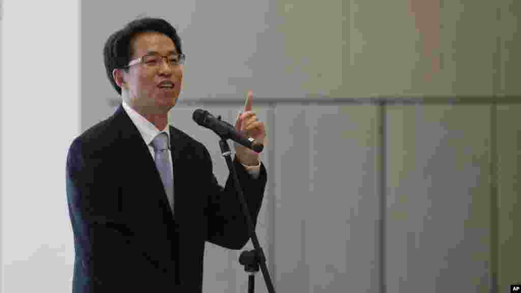 FILE - Beijing's top representative in Hong Kong, Zhang Xiaoming.