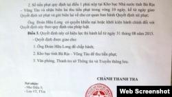 Blogger Đoàn Hữu Long bị xử phạt 5 triệu đồng, đồng thời buộc phải gỡ những thông tin không được phép đăng tải trên Trang Thông tin điện tử cá nhân theo quy định.