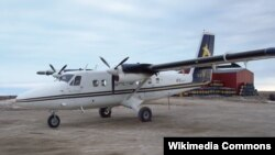 FILE - A de Havilland Twin Otter DHC-6 plane, similar to the one in this file photo, is missing in eastern Indonesia.